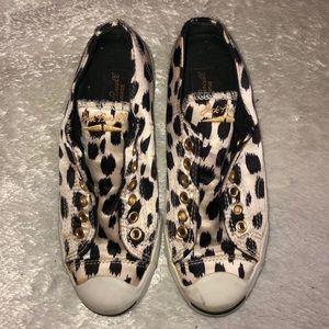 Converse Jack Purcell's satin leopard print